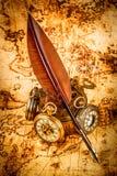 Antigüedad del vintage del reloj de bolsillo del vintage Foto de archivo libre de regalías