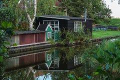 A antiga aldeia piscatória Haaldersbroek Foto de Stock