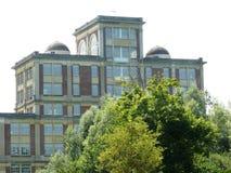 Antiga fábrica Menier do chocolate em Noisiel em Seine e em Marne, propriedade de Nestlé Imagens de Stock