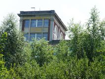 Antiga fábrica Menier do chocolate em Noisiel em Seine e em Marne, propriedade de Nestlé Imagem de Stock