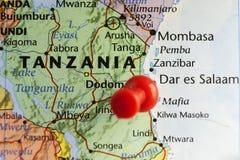 Antigo capital de Dar es Salaam de Tanzânia Fotografia de Stock