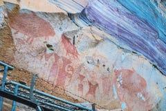 Antigo pré-histórico pintado à mão Fotografia de Stock Royalty Free