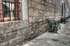 Antigo stonewall no palácio de Topkapi, Istambul foto de stock