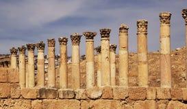 Antigos idosos e arquitetura em Jordânia imagem de stock royalty free