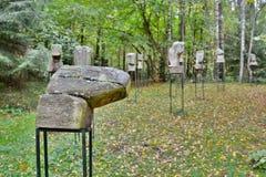 """""""Antigos"""" por De St Croix Parkas de Europos vilnius lithuania Fotografia de Stock"""