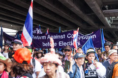 Antigovernment demonstration Thailand Royalty Free Stock Photo