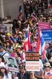 Antigovernment demonstration Thailand Royalty Free Stock Image