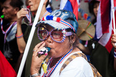 Antigovernment demonstration Thailand Royalty Free Stock Photography