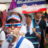 Antigovernment demonstration Thailand Stock Images