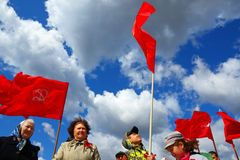 Antigovernmental meeting of party communists Royalty Free Stock Photos