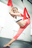 Antigravity yoga Stock Image