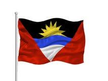 Antigua 2 Barbuda flagę Zdjęcia Royalty Free