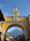 Antigua 4. Arch at Antigua, Guatemala Royalty Free Stock Images