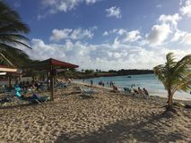 Antigua and Barbud beach cost stock images