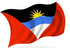 Antigua-And-Barbuda σημαία Στοκ εικόνα με δικαίωμα ελεύθερης χρήσης