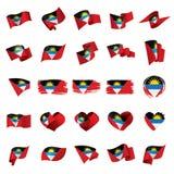 antigua Barbuda flagę Zdjęcia Royalty Free