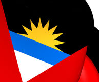 antigua Barbuda flagę Zdjęcie Royalty Free