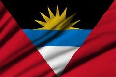 antigua Barbuda flagę Zdjęcie Stock