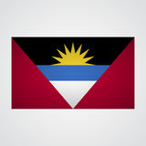 Antigua and Barbuda flag on a gray background. Vector illustration Royalty Free Stock Photos