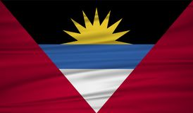 Antigua and Barbuda flag vector. Vector Antigua and Barbuda flag blowig in the wind. EPS 10 Royalty Free Stock Photos