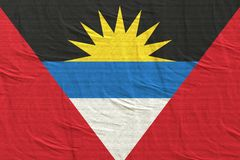 Antigua and Barbuda flag waving. 3d rendering of Antigua and Barbuda flag waving royalty free stock photo