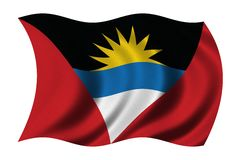 antigua barbuda flagga royaltyfri illustrationer