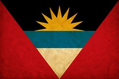 Antigua and Barbuda grunge flag royalty free stock image