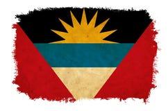 Antigua and Barbuda grunge flag stock photo