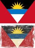 Antigua and Barbuda grunge flag. Vector Stock Photo
