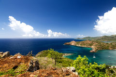 Antigua. And Barbuda are in the middle of the Leeward Islands royalty free stock images