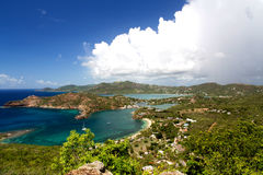 Antigua. And Barbuda are in the middle of the Leeward Islands royalty free stock photos