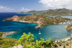Antigua. And Barbuda are in the middle of the Leeward Islands royalty free stock photo
