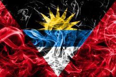 Antigua and Barbuda smoke flag.  Royalty Free Stock Photos