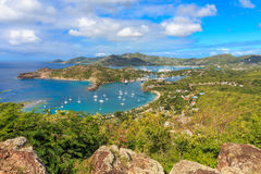 Antigua Bay Aerial View, Falmouth Bay, English Harbour, Antigua Stock Photos
