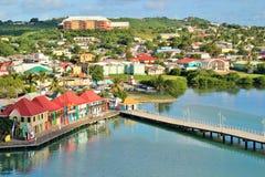 Antigua beskådar Arkivbild