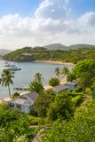 Antigua, Caribbean islands, English Harbour view with yachts. Beautiful landscape stock image