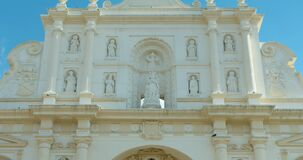 Antigua Cathedral or Cathedral de Santiago or Catedral de San José Church Facade