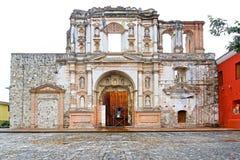 Antigua City, Guatemala. Restoration works at the Antiguo Colegio de la Compañía de Jesús Church. A U stock images