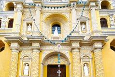 Antigua City, Guatemala. San Jose cathedral at Plaza Mayor square. UNESCO site. Heritage Building stock photos
