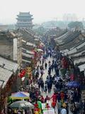 Antigua ciudad de Pingyao en Kina royaltyfria bilder