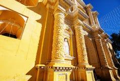 Antigua. Colonial architecture in ancient Antigua Guatemala city, Central America, Guatemala royalty free stock photo
