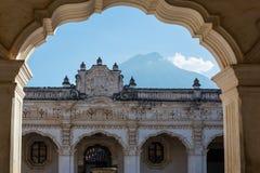 Antigua. Colonial architecture in ancient Antigua Guatemala city, Central America, Guatemala stock images