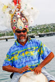 Antigua - Colorful Local Drummer in St. John Stock Photos
