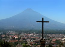 Antigua Guatemala. A panoramic scene of Antigua Guatemala Stock Image