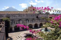 Antigua - Guatemala. A square in Antigua, Guatemala stock photo
