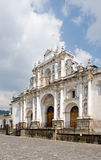 Antigua Guatemala Cathedral. Exterior view of San Jose cathedral, Antigua Guatemala city, Guatemala stock photo