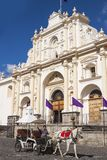 Antigua Guatemala Cathedral Royalty Free Stock Photos