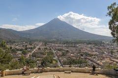 Antigua Guatemala Lookout royalty free stock image