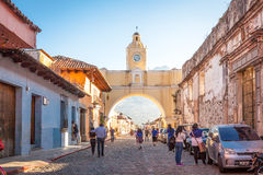 Antigua, Guatemala. January 11, 2017: A city in the central highlands of Guatemala famous for its well-preserved Spanish Baroque-influenced architecture.It Stock Photography