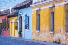 Antigua Guatemala. ANTIGUA , GUATEMALA - JULY 30 : Street view of Antigua Guatemala on July 30 2015. The historic city Antigua is UNESCO World Heritage Site royalty free stock photo